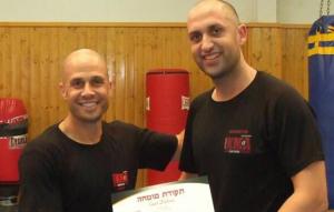 Instructores de Kravmaga Raul Moreno y Shachar Izraeli